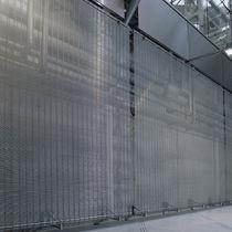 Drahtgeflecht-Dekorpaneel / für Innenausbau / Metalloptik / transparent