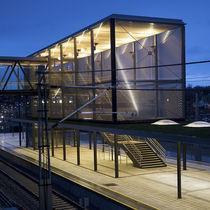 Fassadenverkleidung aus Metall / strukturiert / Gitter / Metalloptik