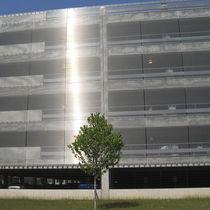 Edelstahl-Fassadenverkleidung / aus Edelstahlgewebe / strukturiert / Gitter
