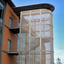 Metallgewebe-Fassadenverkleidung / aus Edelstahlgewebe / strukturiert / Gitter