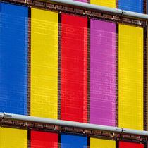 Fassadenverkleidung aus Metall / Edelstahl / farbig / Gitter