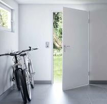 Eingangstür / einflügelig / verzinkter Stahl / mit Sicherheitsvorrichtung