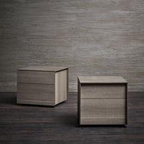 Moderner Nachttisch / Holz / rechteckig / mit Schublade