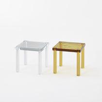 Moderner Couchtisch / geblasenes Glas / quadratisch / Innenraum