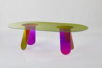 Esstisch / modern / Glas / für Innenbereich