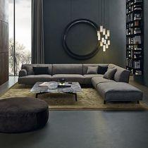 Modulierbares Sofa / modern / Stoff / Leder