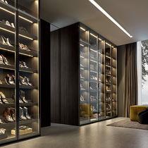Moderner Schuhschrank / Glas / von Rodolfo Dordoni