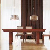 Moderner Tisch / aus Kirschbaum / Macassar-Ebenholz / rechteckig