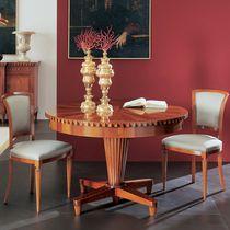Runder Tisch / für Innenbereich / Stil / aus Kirschbaum