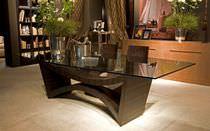 Tisch für Innenbereich / modern / Glas
