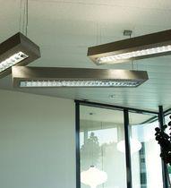 Hängeleuchte / LED / rechteckig / Metall