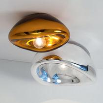 Moderne Deckenleuchte / Glas / Stahl / LED