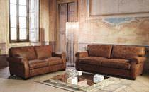 Klassische Sofa / für Innenbereich / Leder / 4 Plätze