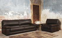 Modernes Sofa / für Innenbereich / Leder / 2 Plätze