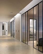 Verglaste Tür / Innenbereich / zum Schieben / Aluminium