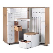 Koffer-Kleiderschrank / modern / aus MDF / Leder