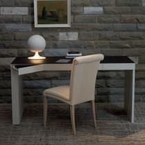 Moderner Schreibtisch / MDF / Leder / aus Birke