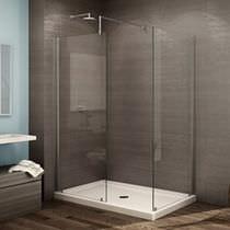 Feststehende Duschwand / für Eckeinbau