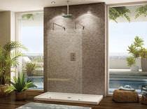 Feststehende Duschwand