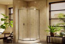 Duschwand zum Schieben / für Eckeinbau / gebogen