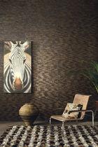 Moderne Tapeten / aus Naturfaser / mit Naturmotiv / schwarz