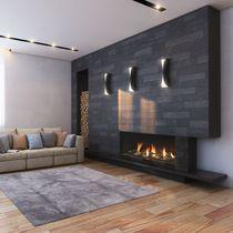 Gaskamin / modern / Geschlossene Feuerstelle / zum Einbauen