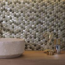 Innenraum-Mosaikfliese / für Wände / Metall / matt