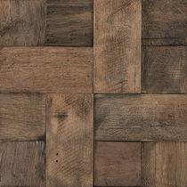 Innenraum-Mosaikfliese / für Wände / Holz / 3D