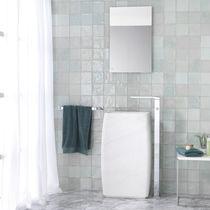 Freistehendes Waschbecken / rechteckig / aus Naturstein / modern