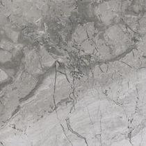 Marmor Steinplatte / matt / für Innenausbau / grau