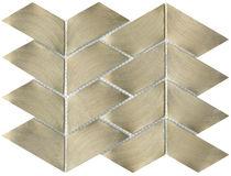 Innenraum-Mosaikfliese / für Wände / Metall / strukturiert