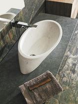 Aufsatzwaschbecken / rund / aus Naturstein / modern