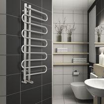 Heißwasser-Badheizkörper / Stahl / Chrom / Designer