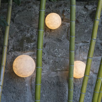 Moderne Wandleuchte / für Außenbereich / Glasfaser / aus Gießharz
