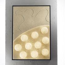 Moderne Wandleuchte / Holz / aus Nebulite® / LED