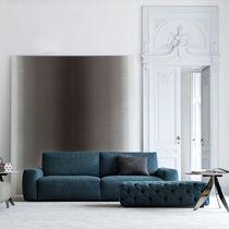 Modernes Sofa / Stoff / 2 Plätze / blau
