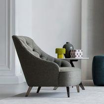 Moderner Sessel / Stoff / drehbar