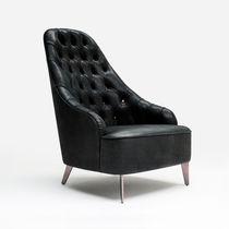 Sessel / originelles Design / Leder / nach Maß / schwarz