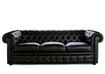 Bettsofa / Chesterfield / Stoff / Leder