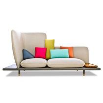 Sofa / originelles Design / Leder / Stoff / 3 Plätze