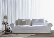 Klassisches Sofa / Leder / Stoff / 3 Plätze