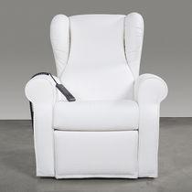 Medizinischer Sessel / Polyurethan / schwenkbar / elektrisch / weiß