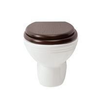 Hängendes WC / aus Porzellan / mit eingebauter Spülung