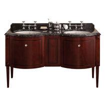 Doppelter Waschtisch Unterschrank / freistehend / Holz / aus Marmor