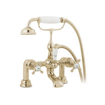 Mischbatterie für Duschen / für Badewanne / für Theken / verchromtes Metall
