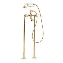 Mischbatterie für Duschen / für Badewanne / bodenstehend / verchromtes Metall