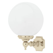 Klassische Wandleuchte / für Badezimmer / verchromtes Metall / Glas