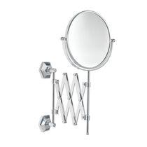 Wandmontierter Spiegel für Badezimmer / klassisch / rund / Metall
