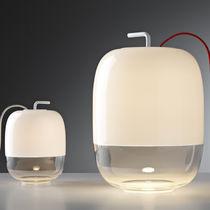Tischlampe / originelles Design / Glas / Innen