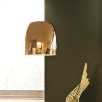 Hängelampe / modern / verchromtes Metall / Glas